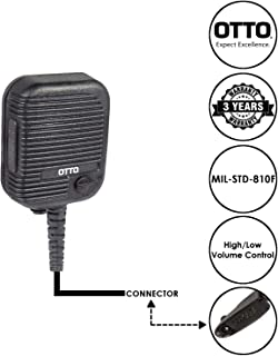 OTTO Evolution Speaker Microphone for Motorola GP HT MTX Pro and PTX Series Two Way Radios