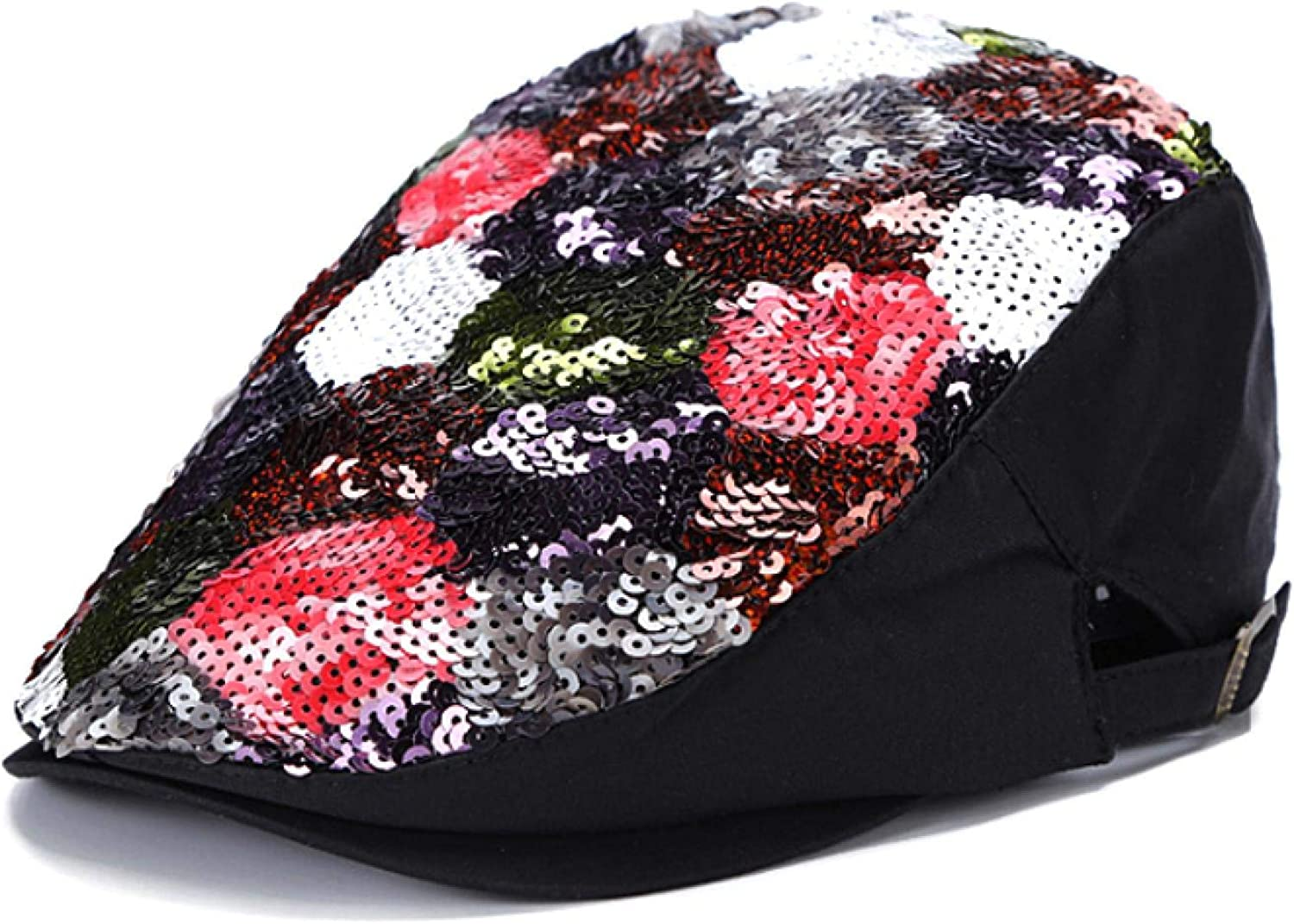 Hat Department store Price reduction Women Spring and Autumn Korean Sequins Flower Fashion Beret