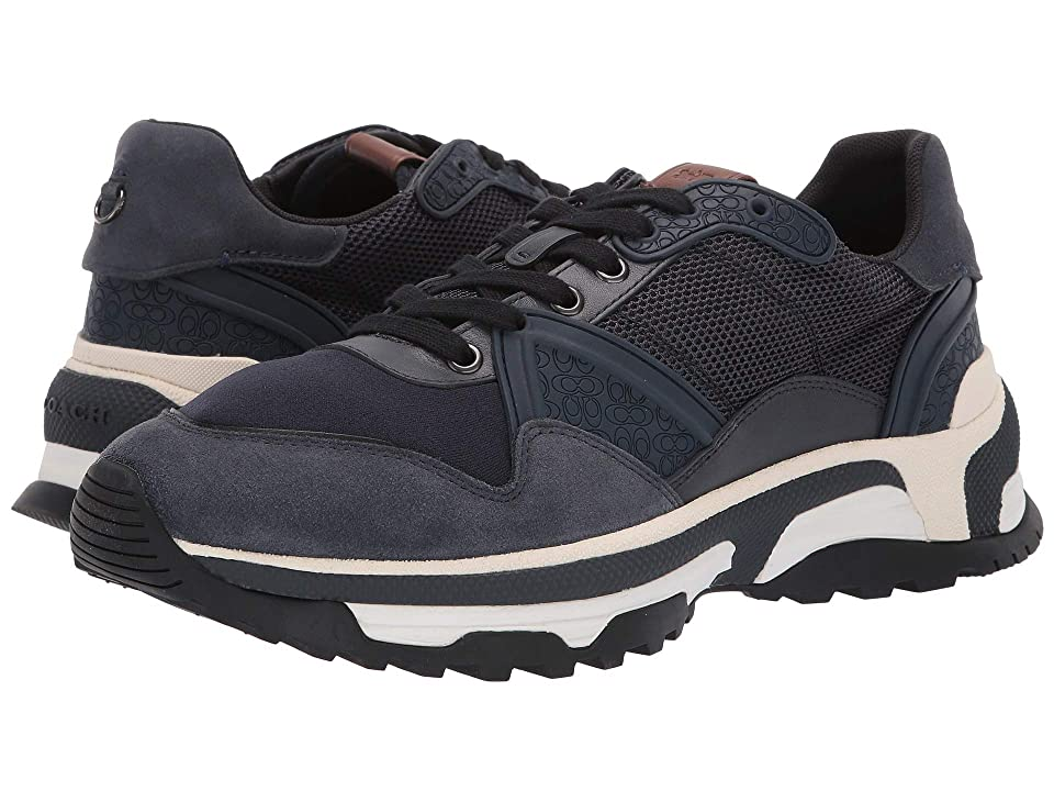 COACH Monochrome C143 Runner (Navy) Men's Shoes