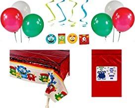 Monster Bash Kid's Birthday Party Decorations (1 Tablecover, 12 Hanging Swirls, 12 Balloons, Bonus Bag) by FX