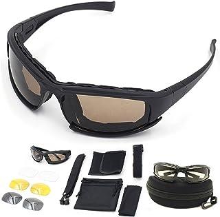 ZoliTime - DAISY X7 Army - Gafas de sol polarizadas, gafas militares, 4 gafas tácticas, kit de lentes que bloquean el deslumbramiento, bloque UV, negro