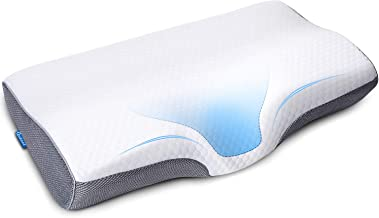 Memory Foam Cervical Pillow for Neck Shoulder Pain Relief Orthopedic Contour Pillow for Sleeping Ergonomic Bed Pillow for ...