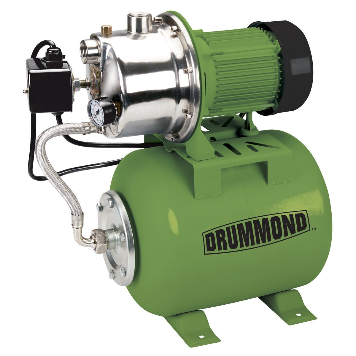 shallow well pumps amazon com1 hp stainless steel shallow well pump and tank with pressure control switch 950 gph