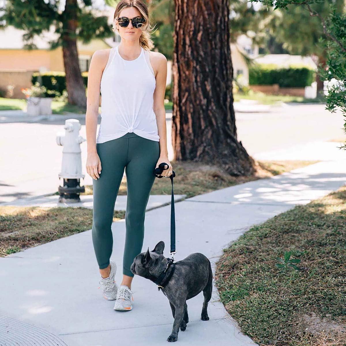 yeuG Black Leggings for Women Non See Through-High Waist Leggings Tummy Control Pants