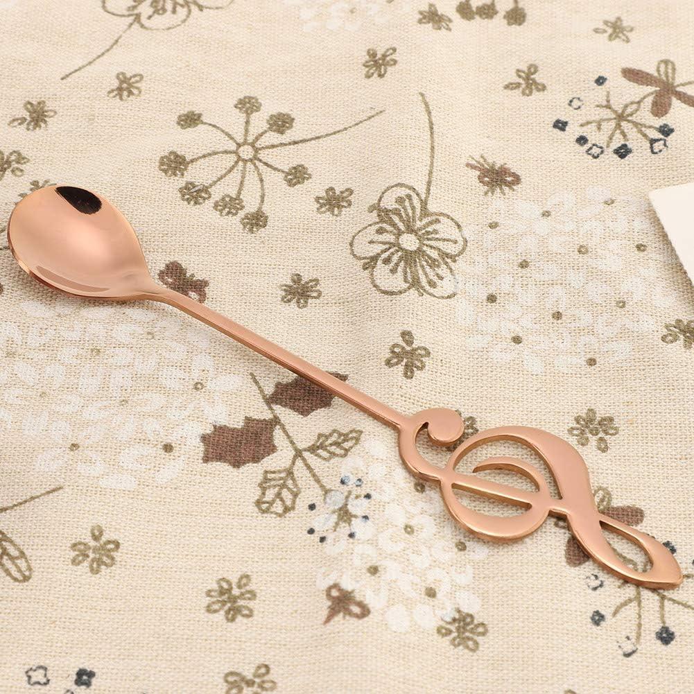 Ornamento da Cucina Stoviglie Divertenti per Dessert da Bere Cucchiaio in Acciaio Inossidabile colorato Golden Parluna Cucchiaio da caff/è con Note Musicali