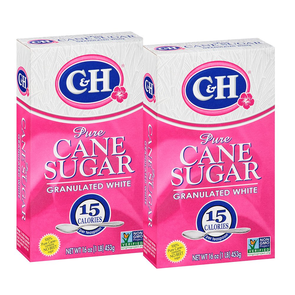 CH Pure Cane Granulated White Sugar At the price 1 lb of Ranking TOP3 Pack 2