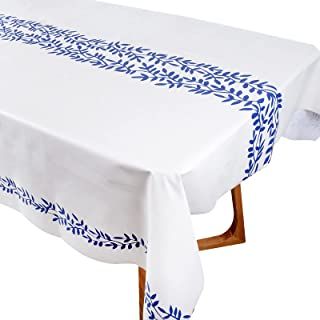 Nappe à Manger Imperméable Plastique 140x200cm Antitache Couvre Linge de Table Réutilisable Couverture Rectangulaire Party...