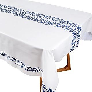 Nappe à Manger Imperméable Plastique 140x200cm Antitache Couvre Linge de Table Réutilisable Couverture Rectangulaire Party...
