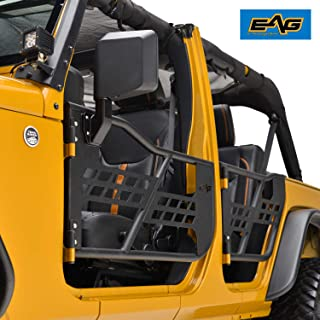 EAG Safari Tubular Doors with Mirror for 07-18 Jeep Wrangler JK 4 Door Only