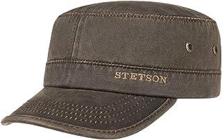 Stetson Datto Armycap Hombre - Algodón Impermeable - Invierno/Verano - Gorra Militar con protección Solar UV 40+ - Gorra U...