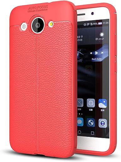 Chanceux Arbre Bleu Huawei Y3 Etui Gaufr/é Cuir Flip Portefeuille Pochette Mince Protecteur Magn/étique Fermeture Fente Carte Silicone TPU Housse Cover Coque pour Huawei Y360 LEMORRY Pour Huawei Y360