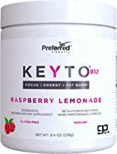 Keto BHB Salts Exogenous Ketones - Beta-Hydroxybutyrate Supplement Powder & Vitamin B12 for Mental Clarity, Energy and Fat Burn - Raspberry Lemonade KEYTO by Preferred Elements