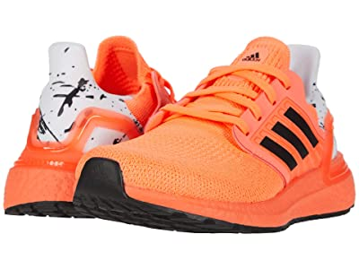 adidas Kids UltraBOOST 20 (Big Kid) (Signal Coral/Black/White) Kid