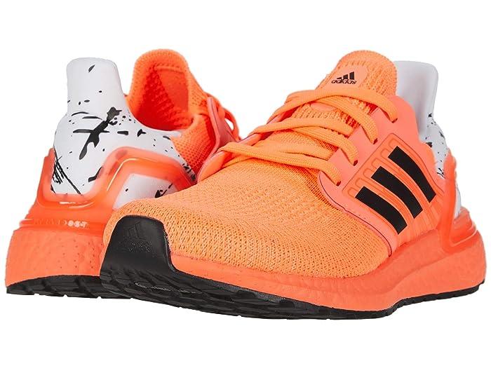 adidas Kids  UltraBOOST 20 (Big Kid) (Signal Coral/Black/White) Kids Shoes
