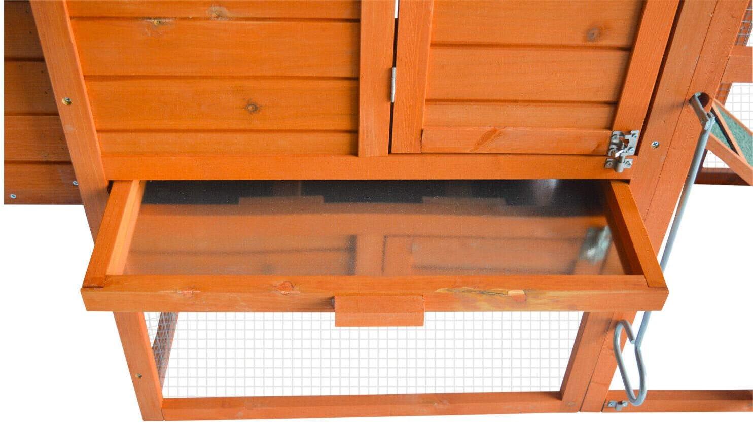 Buy KINTNESS Chicken Coop Large Wooden Outdoor Bunny Rabbit Hutch ...
