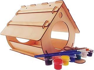 Mangeoire pour Oiseaux, cabane pour Oiseaux à Assembler et à Peindre soi-même. Kit en Bois, écologique, pour Les Enfants.