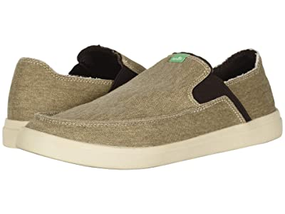 Sanuk Pick Pocket Slip-On Sneaker (Khaki) Men