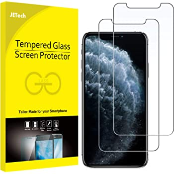 JETech Screen Protector for iPhone 11 Pro Max and iPhone Xs Max 6.5-Inch, Tempered Glass Film, 2-Pack