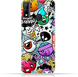 AMC Design Huawei Y8s TPU Silicone Case with Bizarre Characters Pattern