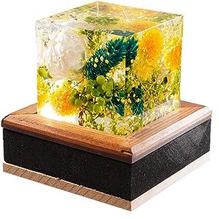 【 クリスタルアートリウム ® 】 GRACE 固めるハーバリウム プリザーブドフラワー   ハーバリウム プリザーブドフラワー 固める 植物標本 デザイナー ギフト   プレゼント 固まる 手作り かわいい 人気   ブライトグリーン