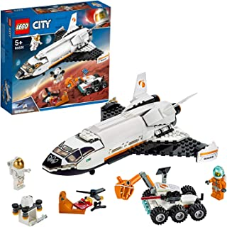 LEGO City Space Mars Research Shuttle 60226 Space Shuttle Toy Building Kit with Mars Rover and Astronaut Minifigures, Top ...