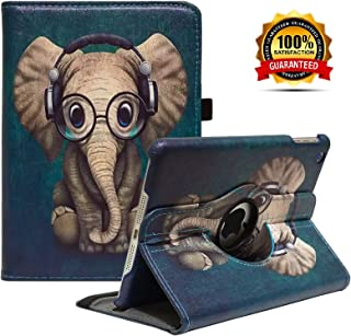 LayYun iPad Mini 1/2/3 Case - 360 Degree Rotating Stand Case Cover with Auto Sleep/Wake Feature for iPad Mini 1/iPad Mini 2/iPad Mini 3 (Elephant)