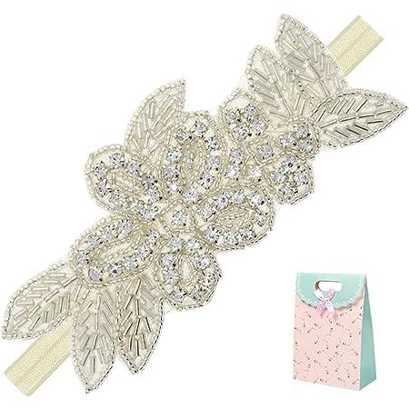 Light Pink and Bubblegum Pink flower rhinestone pearl headband bow gold silver elastic head band newborn infant toddler little baby girl