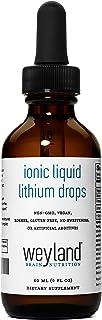 Weyland Brain Nutrition: Ionic Liquid Lithium Drops (60 mL), Supports Balance and Mood