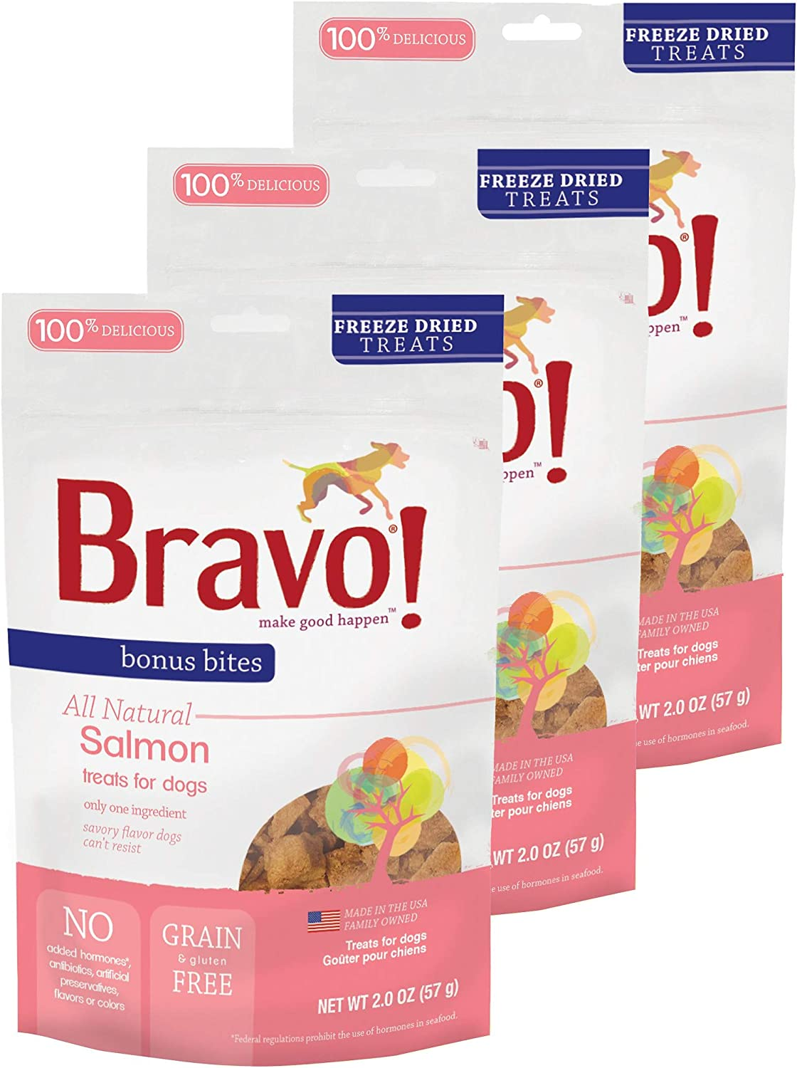 Bravo Bonus Bites All Inventory cleanup selling sale Natural Freeze - Treats Ranking TOP11 Dried Salmon Dog