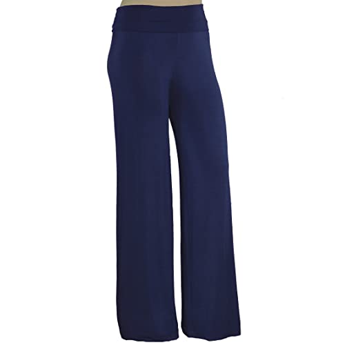 57ccdeb68e1 Stylzoo Women s Plus Size Premium Modal Rayon Softest Ever Palazzo Solid  Stretchy Knit Pants Made in