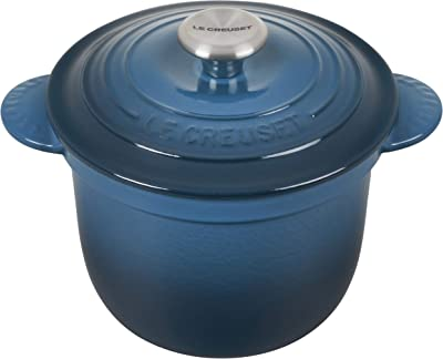 Le Creuset Enameled Cast Iron Rice Pot with SS Knob & Stoneware Insert, 2.25 qt., Deep Teal