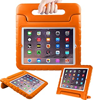 eTopxizu Shockproof Case Light Weight Kids Case for iPad 4, iPad 3 and iPad 2,2nd 3rd 4th Generation,iPad 2 3 4 Shockproof Case Super Protection Cover Handle Stand Case for Children, Orange