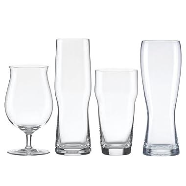 Lenox 853383 Tuscany Classics 4pc Assorted Craft Beer Set, 4.55 LB, Clear