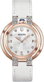 Bulova Womens Analogue Classic Quartz Watch with Leather Strap 98R243