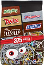 Chocolate Favorites Halloween Candy Bars Variety Mix Bag (Twix, Milky Way, Snickers, 3 Musketeers, M&M'S Brands), 112.82 o...
