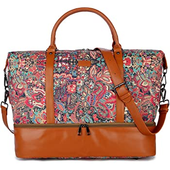 Autumn Leaves Travel Carry-on Luggage Weekender Bag Overnight Tote Flight Duffel In Trolley Handle