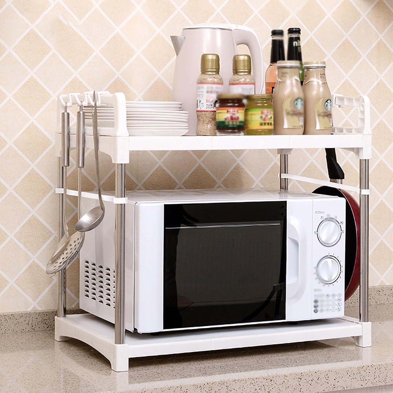 Storage Rack European-style Plastic Kitchen Racks Oven Rack Multi-shelf White ( Size   B )