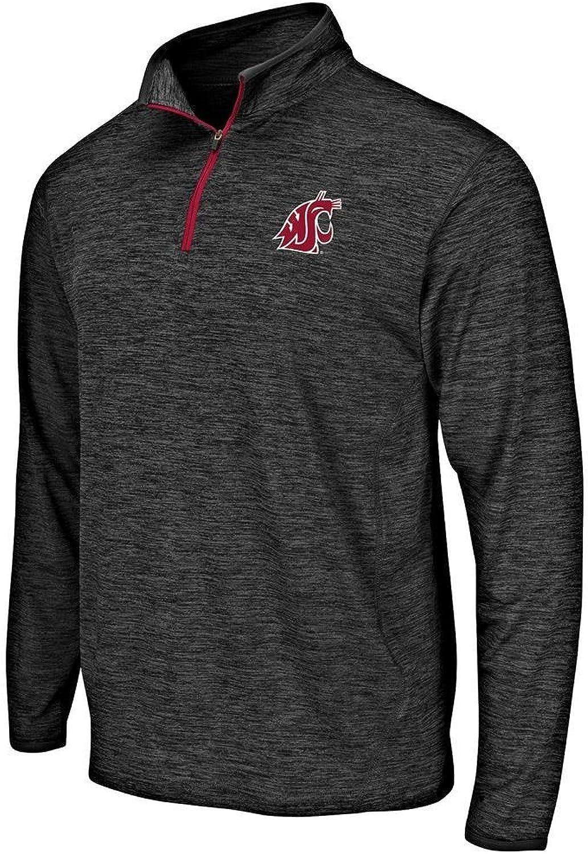Mens Washington State Cougars Quarter Zip Windbreaker Shirt