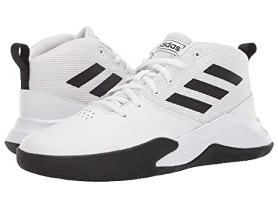 adidas Kids Own The Game Wide Basketball (Little Kid/Big Kid) (White/Black) Kids Shoes
