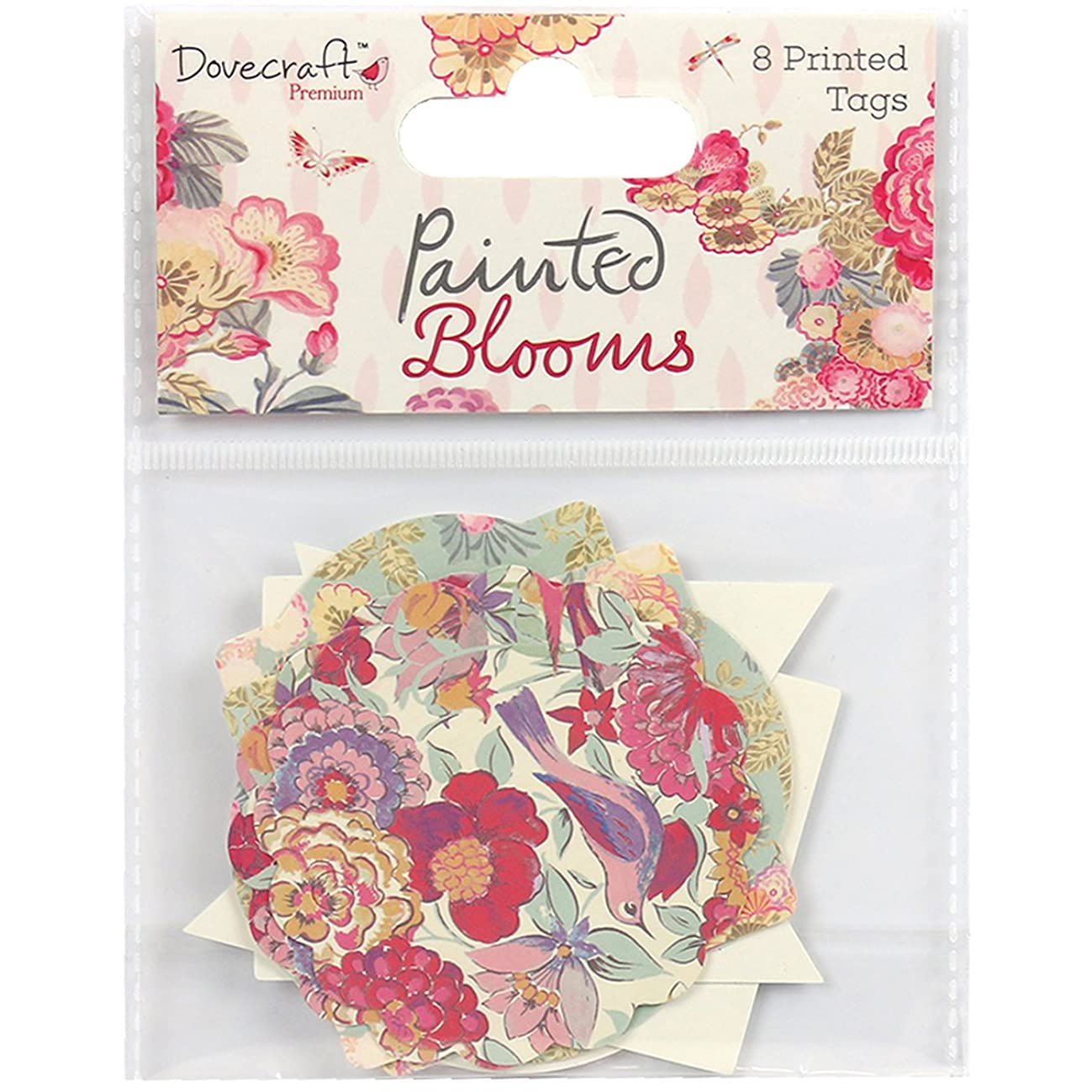 Trimcraft DCTOP045 Dovecraft Painted Blooms Cardstock Tags 8/Pkg