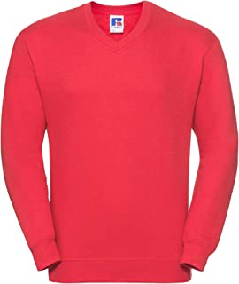 123t Russell J272M V-Neck Sweatshirt Blank Plain