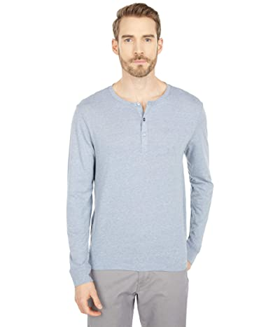 Threads 4 Thought Tri-Blend Long Sleeved Henley (China Blue) Men
