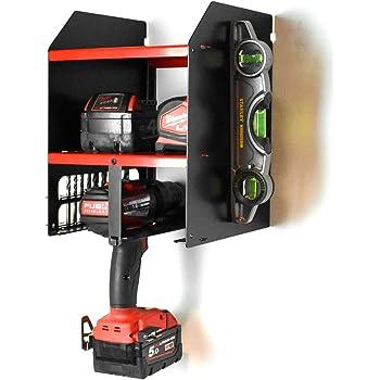 Cordless Power Tool Shelving Storage Organiser Tidy Shelf Shed Garage Workshop