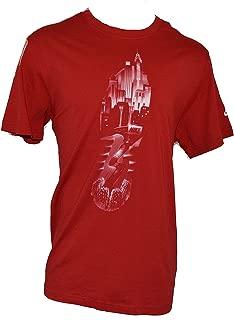 Men's Run Sole City Nights Slim Fit T-Shirt XX-Large Red White