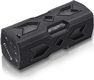 ELP Portable Waterproof Bluetooth Speaker Power Bank Outdoor External Battery Charger Pack for Sport(black)