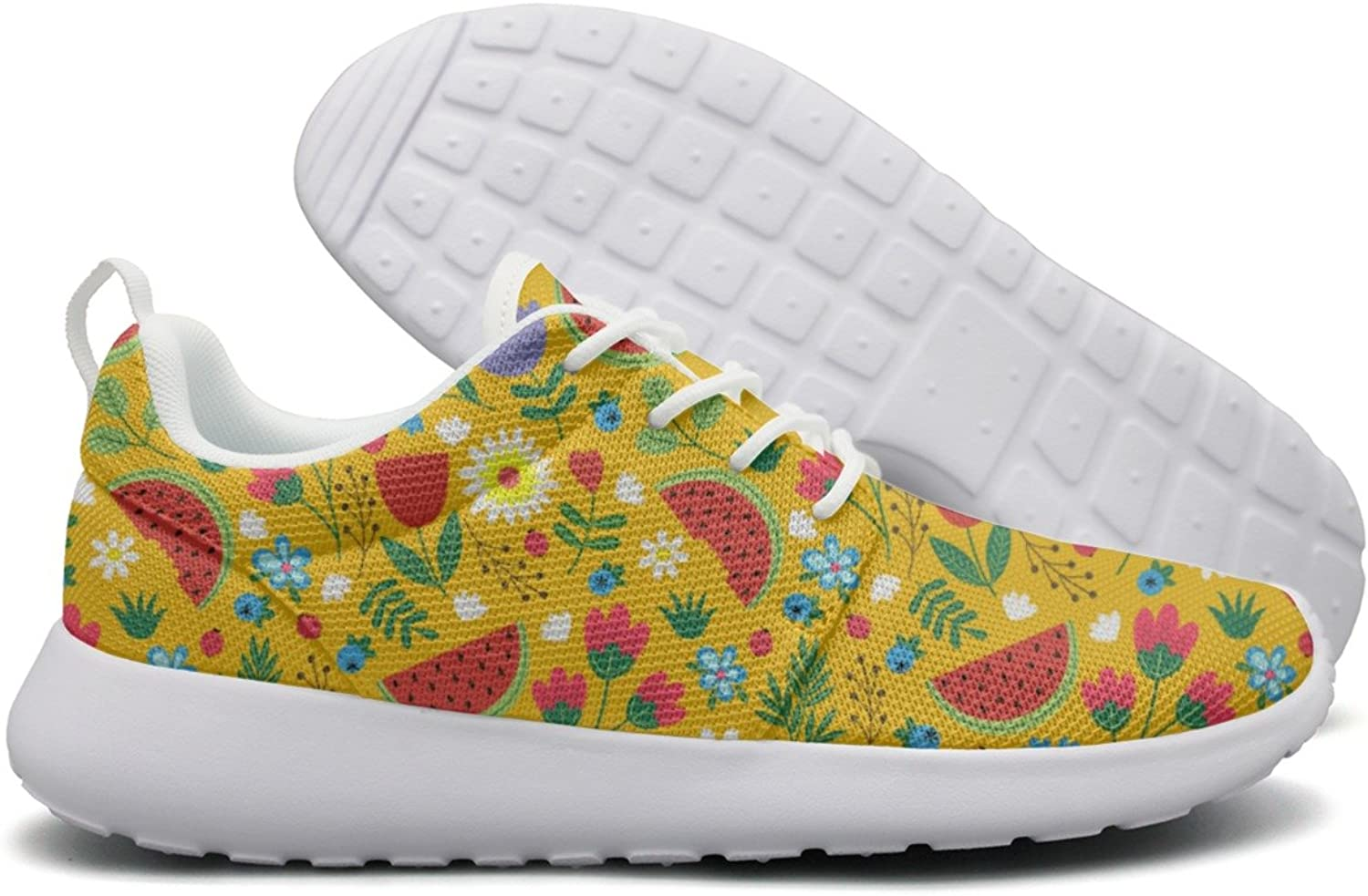 Hoohle Sports Flowers with Watermelon Leaves Womens Roshe One Flex Mesh Mens Lightweight Running shoes