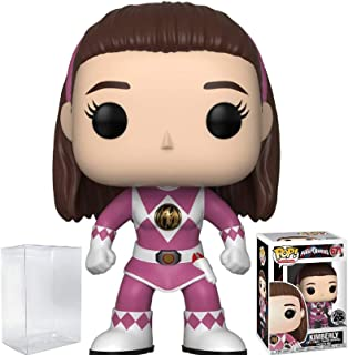 Power Rangers Funko Pop! TV: Mighty Morphin Kimberly Pink Ranger (No Helmet) Vinyl Figure (Bundled with Pop Box Protector Case)