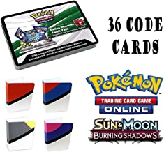 Pokemon Burning Shadows 36 Booster Pack Online Code Card with Totem Mini Binder …