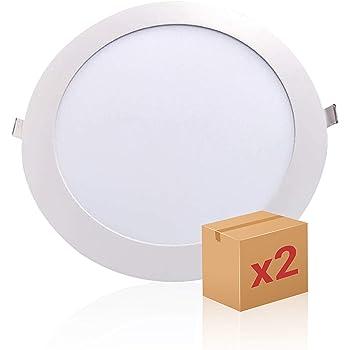 SECEIEL- Pack x 2 downlight led Placa LED Downlight 18W, luz Fria ...