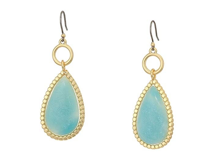 Lucky Brand  Amazonite Drop Earrings (Gold) Earring